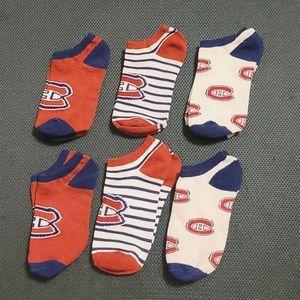 💥 6 Pairs Ladies Montreal Canadiens Socks